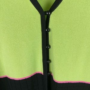 Misook Sweaters - Exclusively Misook green and black cardigan